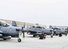 At last, Nigeria takes delivery of 6 Super Tucano first batch aircrafts from US
