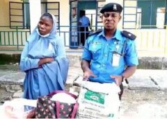 Suspected bandit's wife arrested with 6 gallons of petrol hidden under her hijab in Katsina
